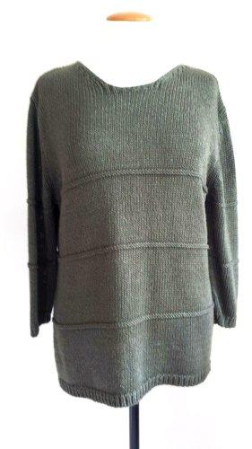 Monari Coarse Knitted Sweater petrol mixture fibre