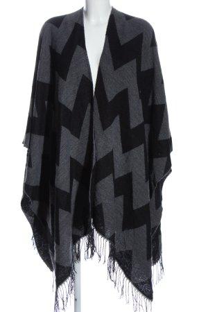 Monari Cape black-light grey graphic pattern casual look