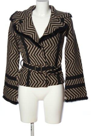 Monari Cardigan schwarz-wollweiß grafisches Muster Business-Look