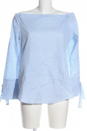 Monari Carmen Blouse blue-white striped pattern casual look