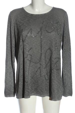 Monari Fine Knit Jumper light grey flecked casual look