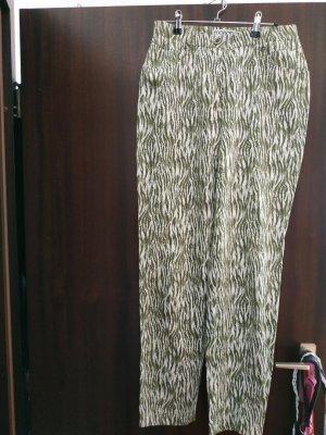 Monari Hose wie neu Gr. 38 Dschungle Look beige/grün Vintage