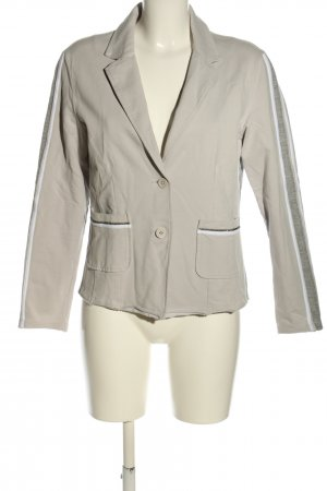 Monari Blazer in jersey grigio chiaro-bianco stile casual