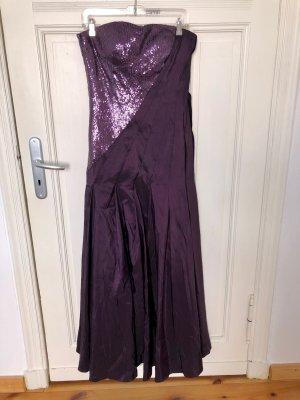 MONARI Kleid Abendkleid Ballkleid Violett Pailletten Gr. 40 neu mit Etikett!