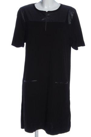 Monari Robe à manches courtes noir style décontracté