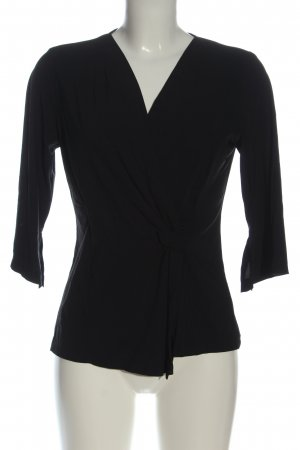 Monari Long Sleeve Blouse black flecked casual look