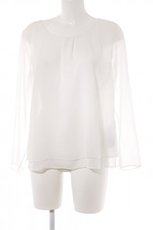 Monari Langarm-Bluse weiß Casual-Look