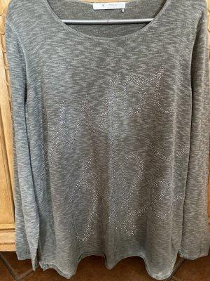 Monari Langarmshirt mit Strassprint