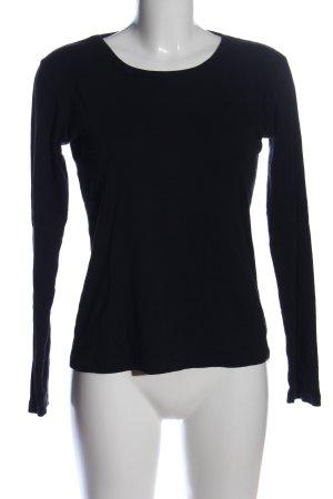 Monari Longshirt schwarz Casual-Look