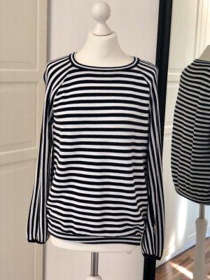 Monari Crewneck Sweater white-dark blue