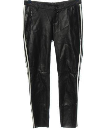 Monari Pantalone a sigaretta nero-bianco stile casual