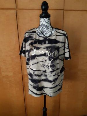 Monari T-Shirt black-beige