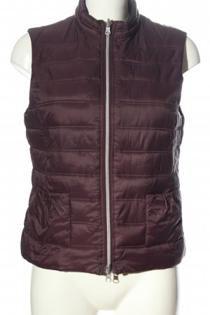 Monari Quilted Gilet lilac quilting pattern casual look