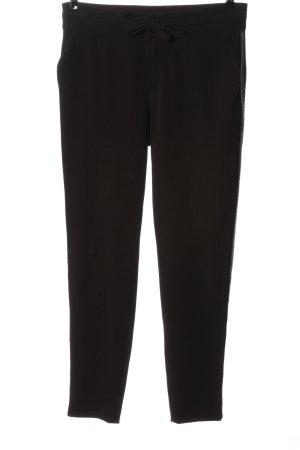 Monari Pantalone jersey marrone motivo a righe stile casual