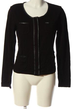 Monari Giacca in maglia nero stile casual