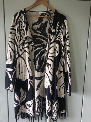 Monari Manteau en tricot multicolore
