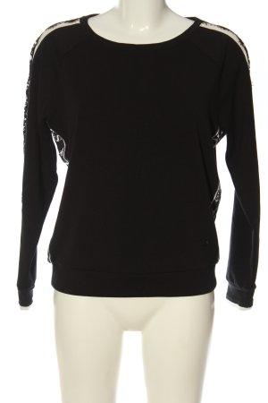 Monari Sweatshirt schwarz-wollweiß Casual-Look