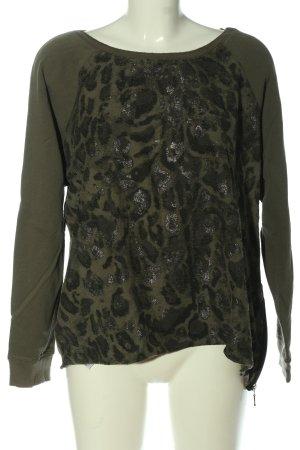 Monari Sweatshirt abstraktes Muster Casual-Look
