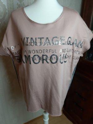 Monari T-Shirt Schriftzug gedruckt Casual-Look