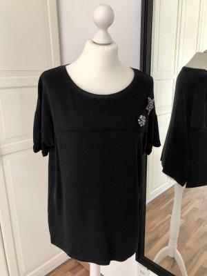 Monari Tshirt schwarz Sterne 40