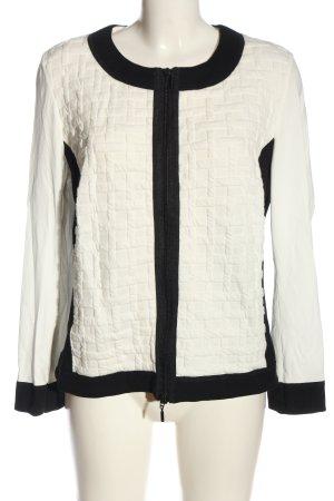 Monari Übergangsjacke weiß-schwarz Casual-Look