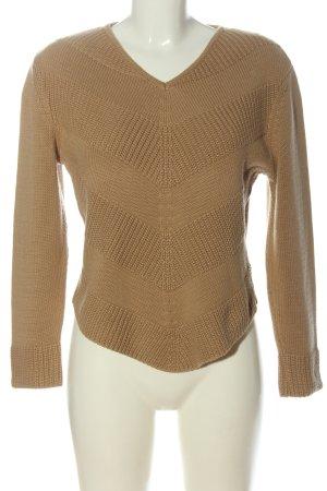 Monari V-Ausschnitt-Pullover braun Casual-Look
