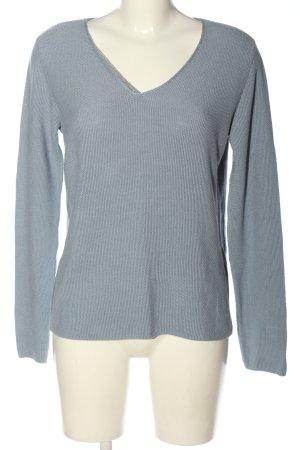 Monari V-Ausschnitt-Pullover hellgrau Casual-Look