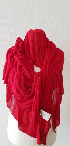 Monari Écharpe en tricot rouge brique