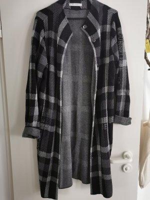 Monari Knitted Coat black-grey