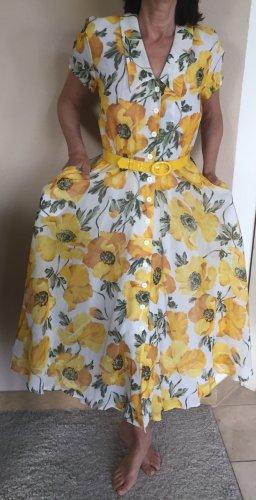 Moncara Vintage Blumenkleid Gr.36/38 im Stil der 40er Jahre