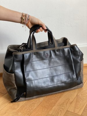 Moncler Weekender Bag black-grey brown