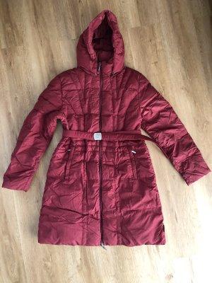 Moncler Manteau en duvet rouge foncé