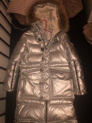 Moncler Abrigo de plumón color plata