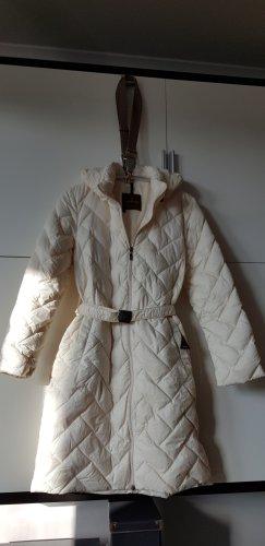 Moncler Gabardina tipo vestido blanco