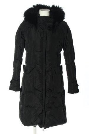 Moncler Manteau en duvet noir motif de courtepointe style décontracté