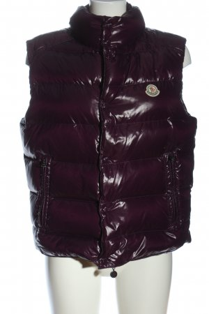 Moncler Down Vest lilac quilting pattern casual look