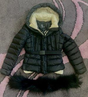 Moncler Kurtka zimowa czarny-kremowy