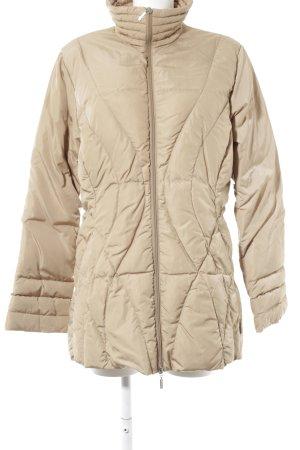 Moncler Lange Jacke beige Steppmuster Casual-Look