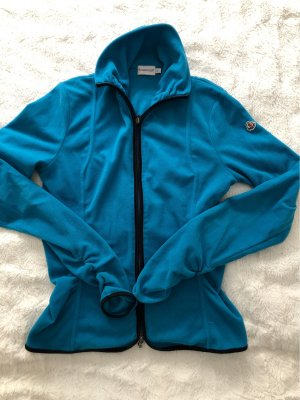 Moncler Fleece Jackets turquoise-blue