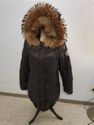 Moncler Pikowany płaszcz czarny