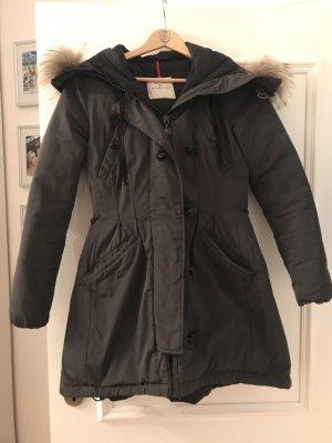 Moncler Abrigo de plumón gris-gris antracita