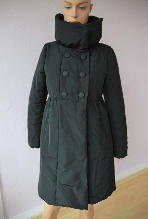 Moncler Mantel schwarz Daunenmantel Parka Kragen Knöpfe Gr. 2 (38)