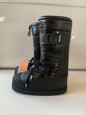 Moncler Moon Boots Venus Stiefel Gr.37/38 schwarz NEU OVP NP 555€