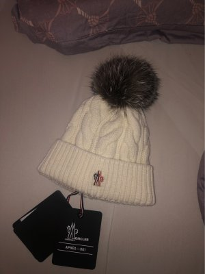 Moncler Fur Hat natural white
