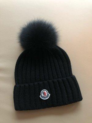 Moncler Cappello in pelliccia nero