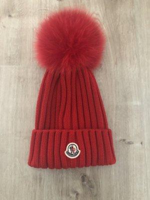 Moncler Bonnet à pompon rouge