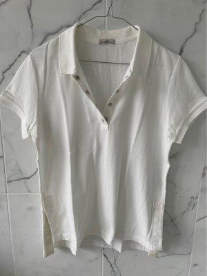 Moncler Koszulka polo w kolorze białej wełny-kremowy