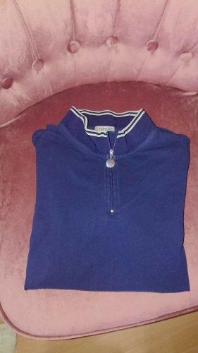 Moncler Poloshirt, Blau, Gr, S, Mit Reißverschluss