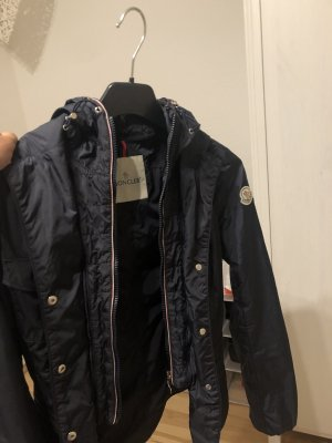Moncler Manteau de pluie bleu foncé