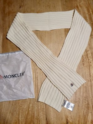 Moncler Woolen Scarf natural white-oatmeal